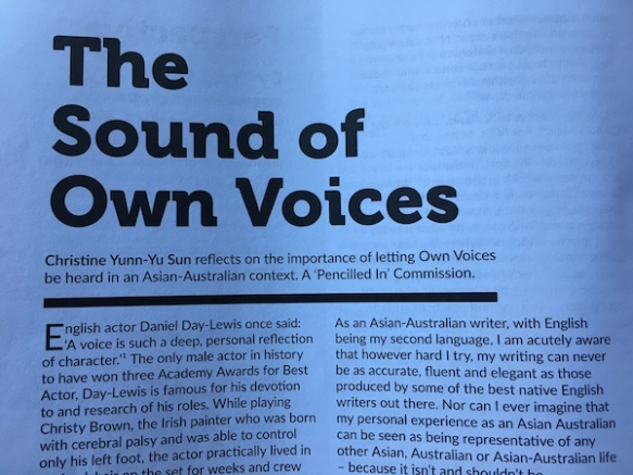 """Essay """"The Sound of Own Voices"""" published by The Victorian"""